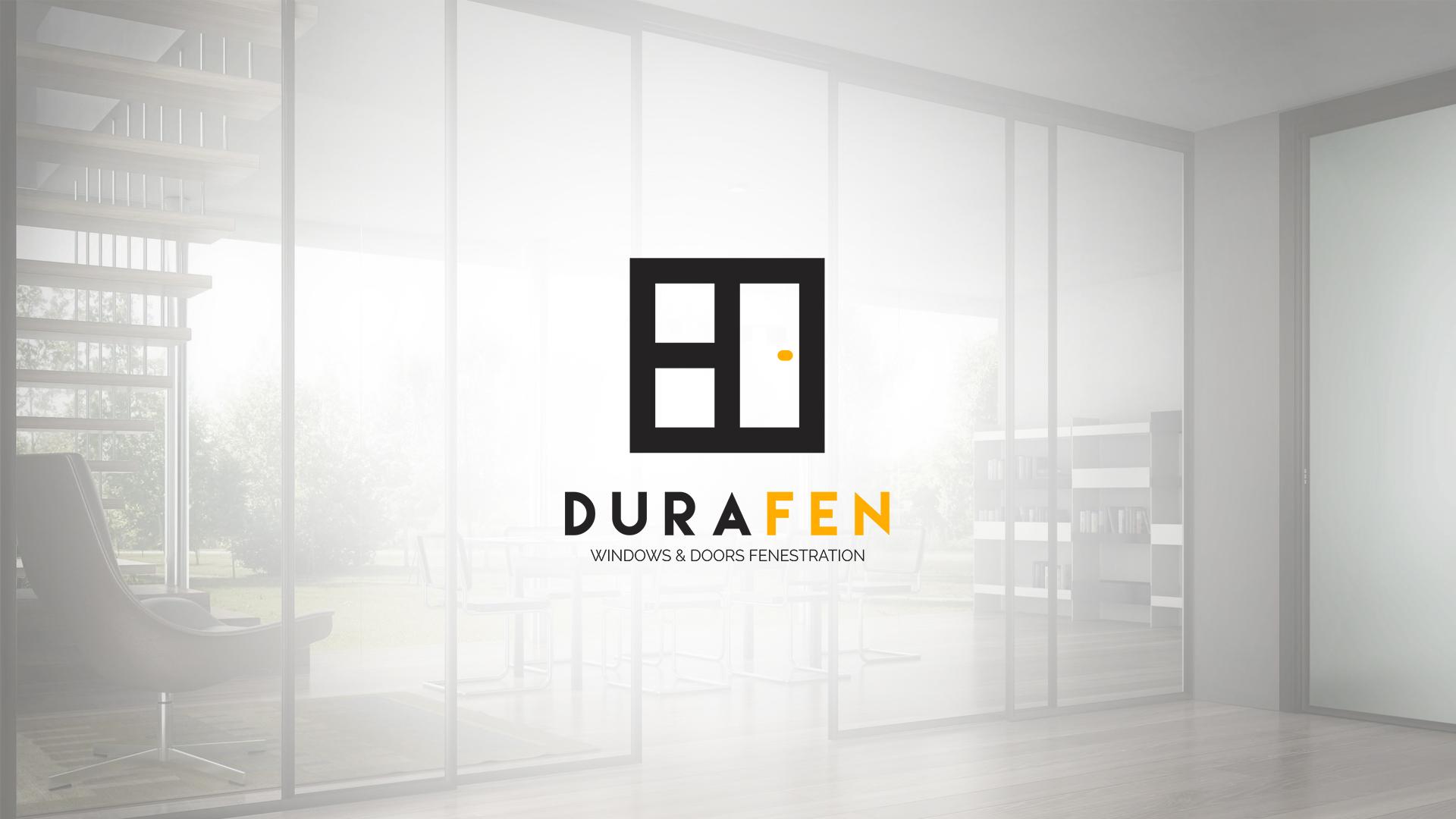 'DuraFen' Logo in 2020 Window company logos, Logo design